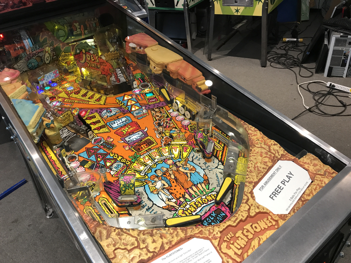Flintstones Pinball Machine Fun