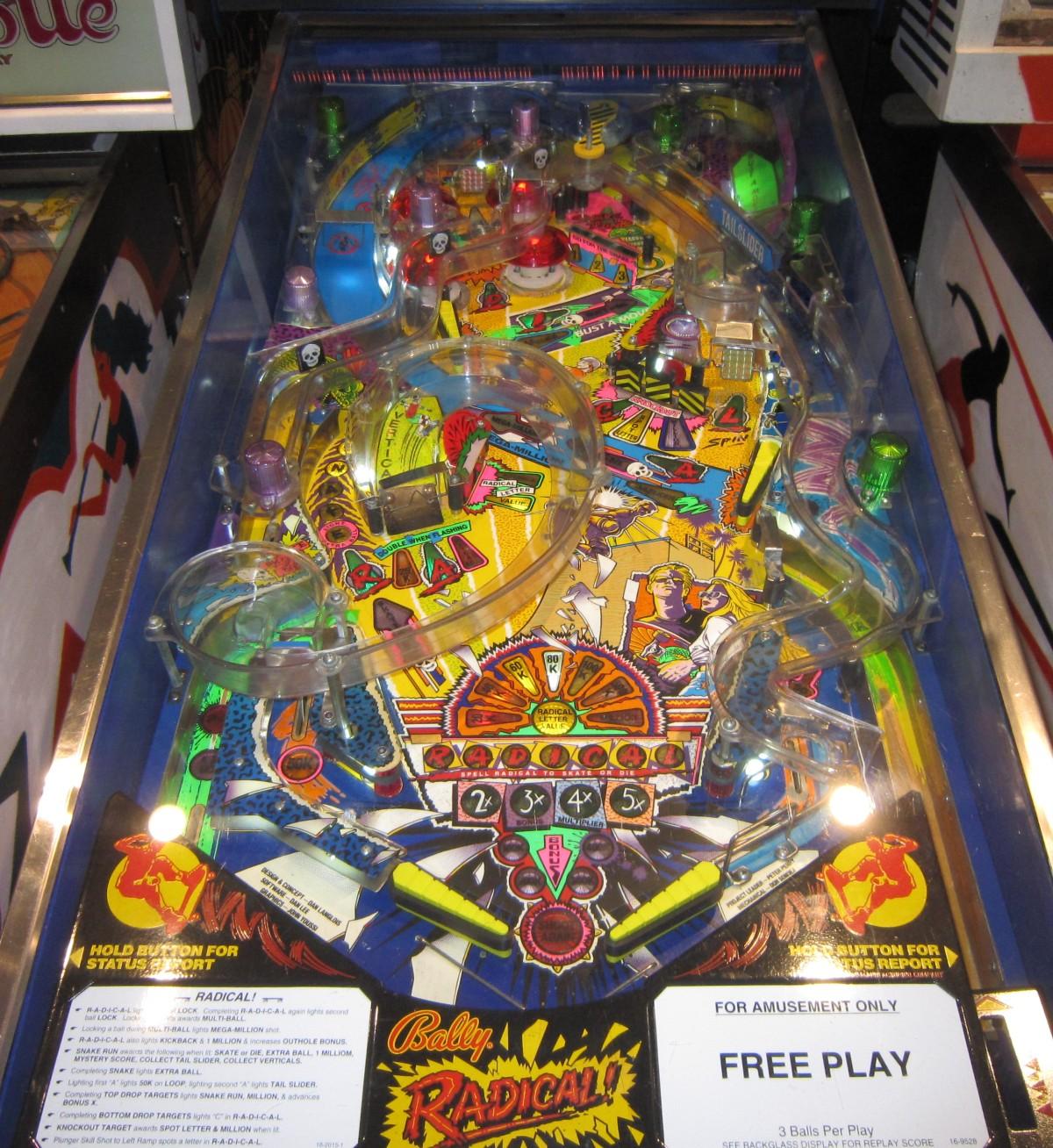 Radical Pinball Machine Fun