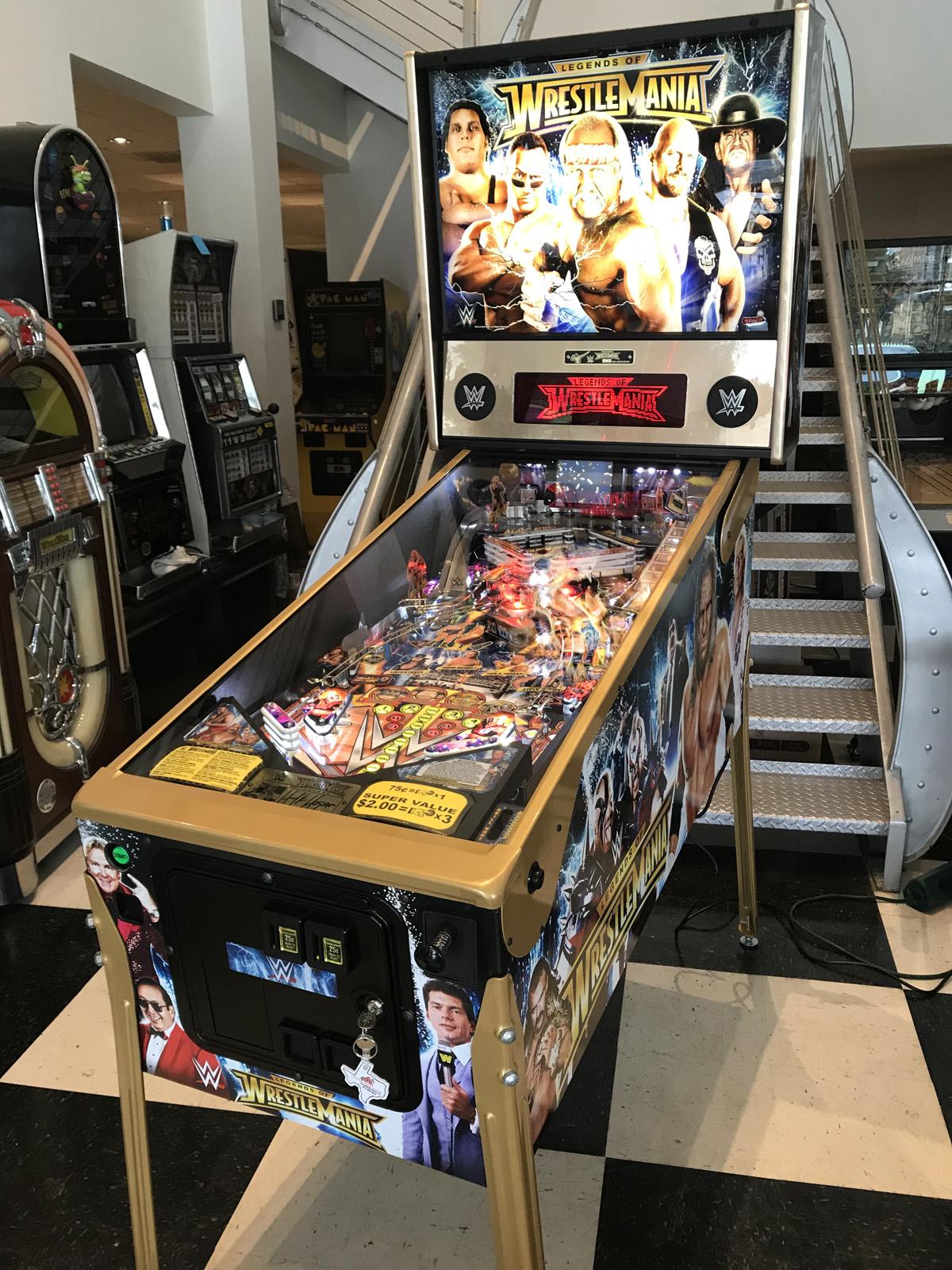 Wwe Legends Of Wrestlemania Limited Edition Pinball Machine Fun