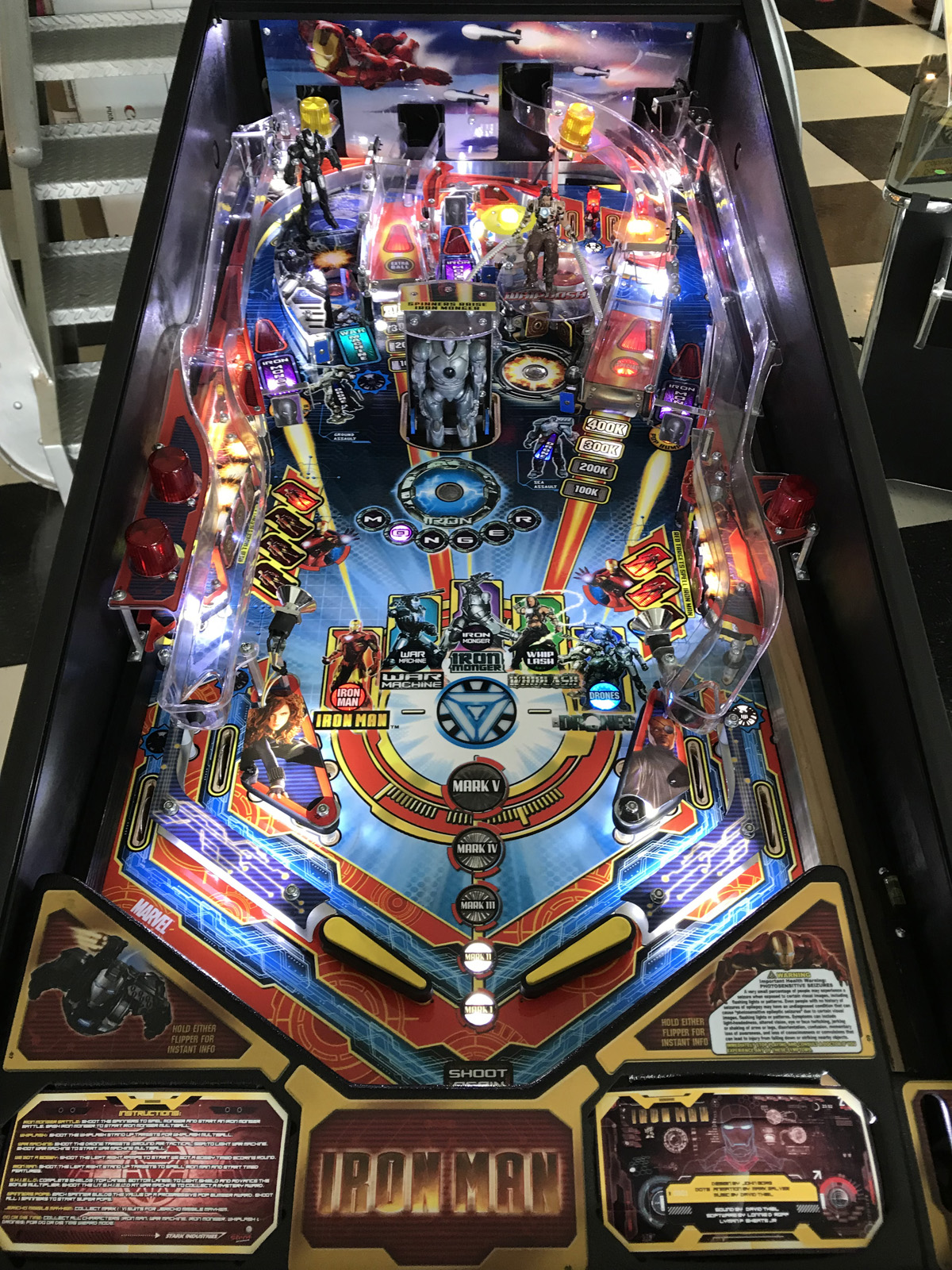 Iron Man Pro Vault Edition Pinball Machine Fun