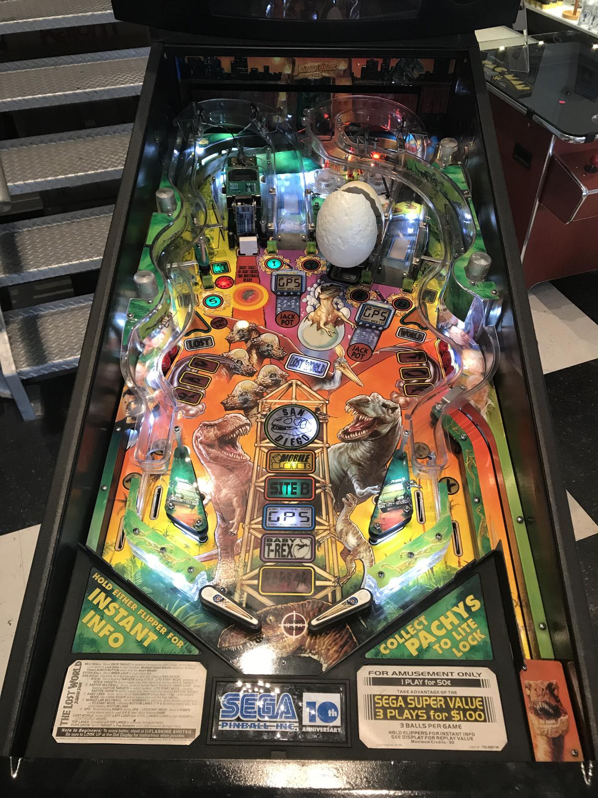 The Lost World: Jurassic Park Pinball Machine | Fun!