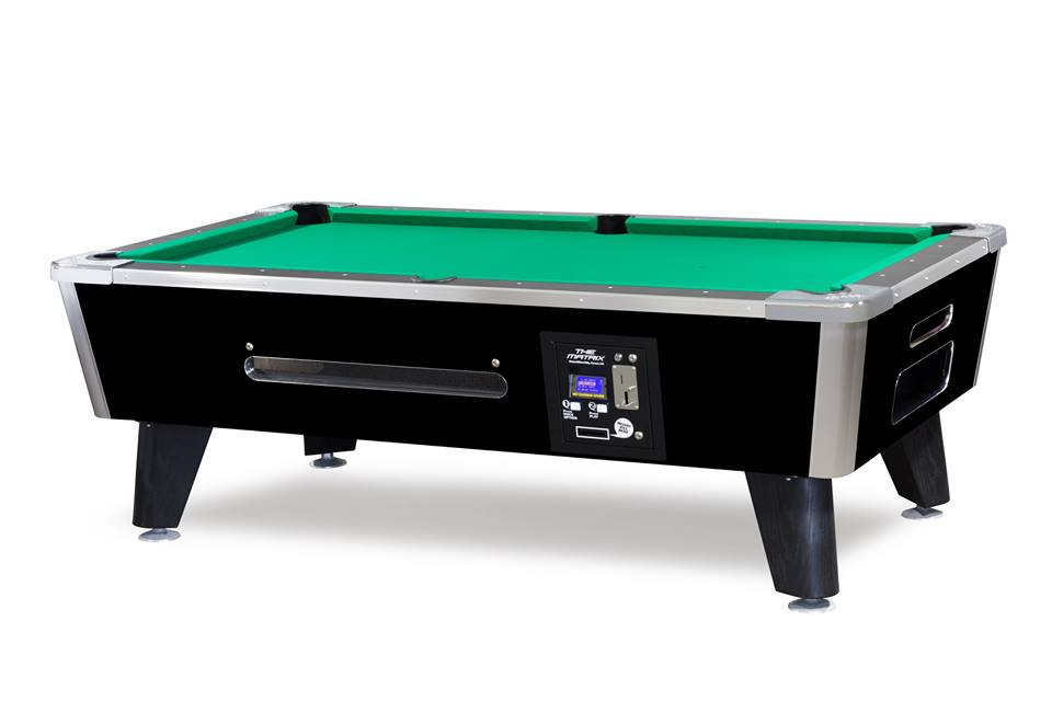 Challenger 7 pool table black w bill acceptor coin - Most expensive pool table ...