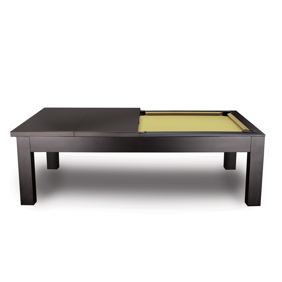 The Penelope 8u2032 Pool Table (Dark Walnut) W/Dining Top