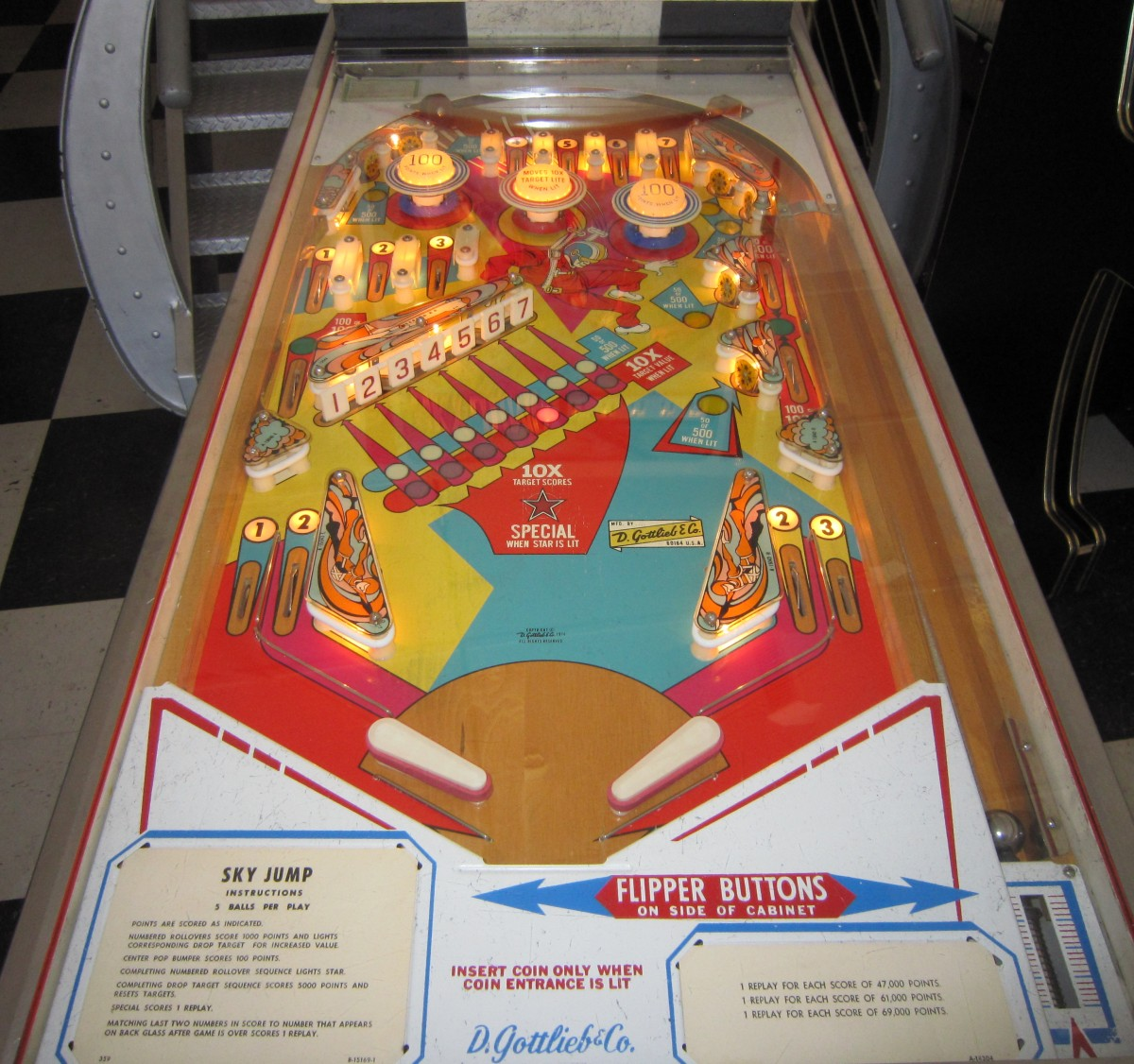 Sky Jump Pinball Machine Fun
