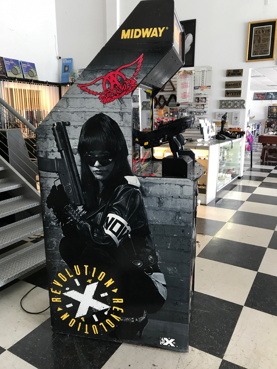 Revolution X Arcade Game Fun