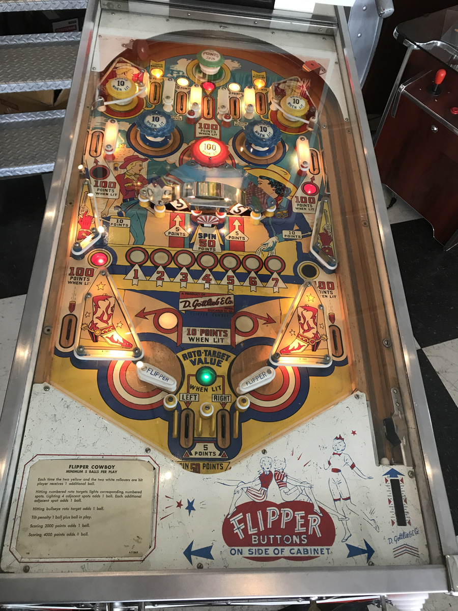 flipper cowboy pinball machine