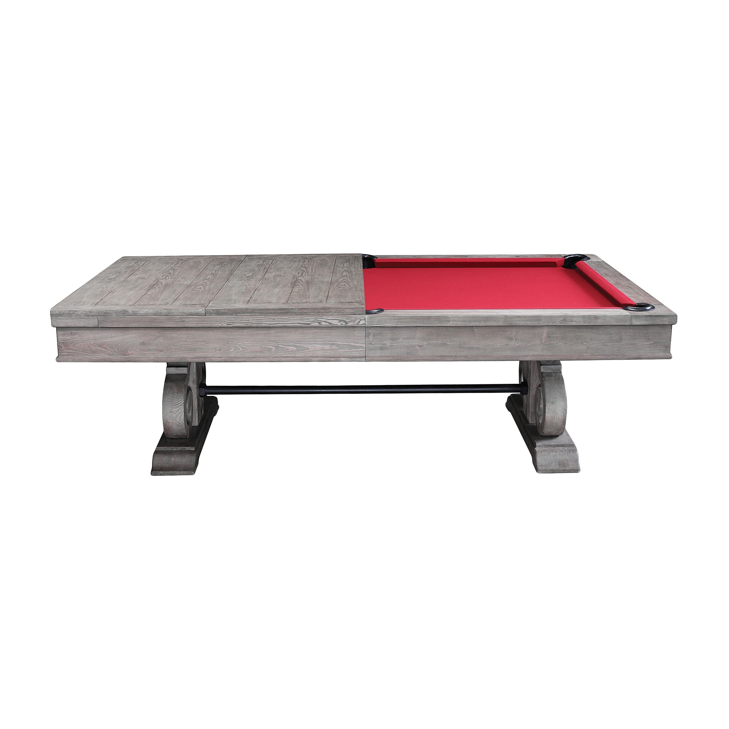 b2b3cdcd223 The Barnstable 8′ Pool Table w Dining Top (Silver Mist)