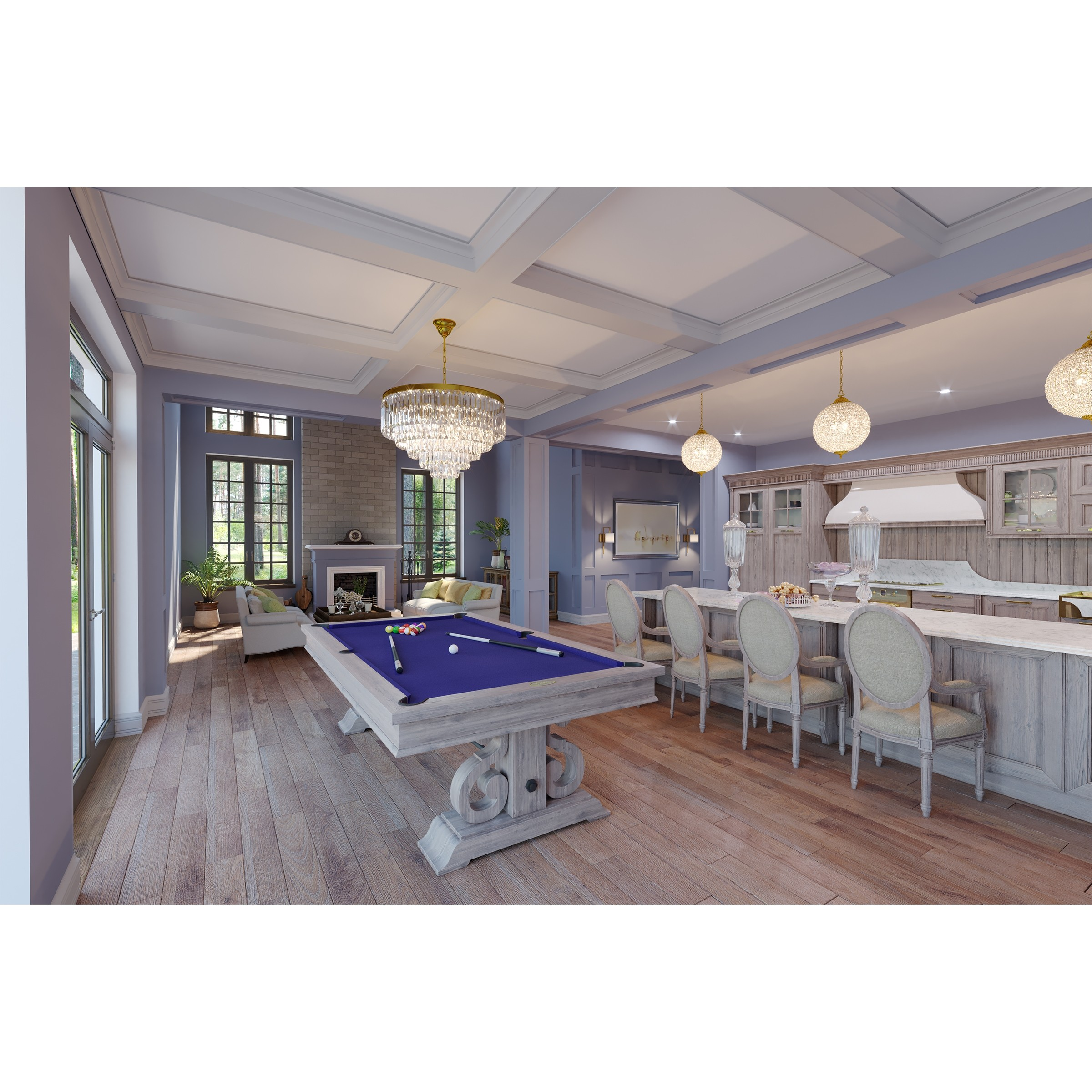 Pool Table Dining Room Table: The Barnstable 8′ Pool Table W/Dining Top (Silver Mist)